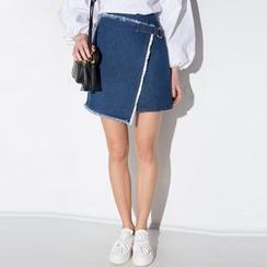 Obel - 散擺牛仔褢式短裙