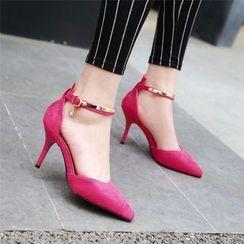 Gizmal Boots - Ankle Strap Pumps