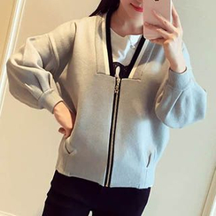 Asally - V-neck Knit Jacket