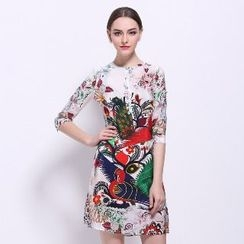Ameous - Printed Silk Dress