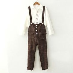 ninna nanna - Rabbit Plaid Dungaree