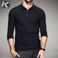 Quincy King - Long-Sleeve Polo Shirt