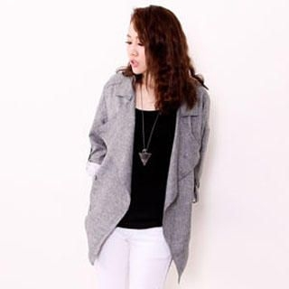 D.P-Shop - Open-Front Lapel Jacket