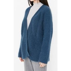 Someday, if - Open-Front Wool Blend Cardigan