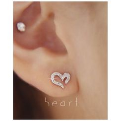 Miss21 Korea - Heart Stud Earrings