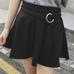 Cloud Nine - Eyelet Detail A-Line Skirt