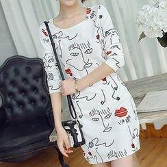 Q.C.T - Print Sheath Dress