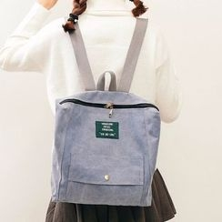 Youme - Pocketed Canvas Backpack