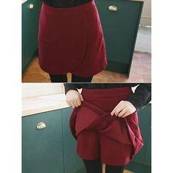 LOLOten - Inset Shorts Mini Wrap Skirt