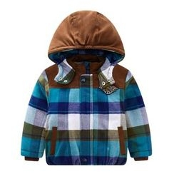 Endymion - Baby Hooded Plaid Jacket