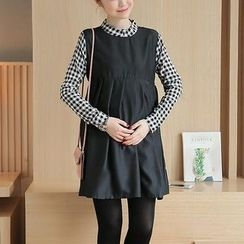 Cheer Mom - Maternity Mock Two-Piece Dress