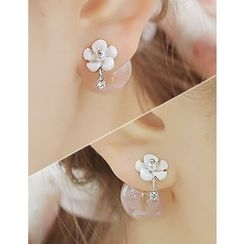 soo n soo - Flower Ball Earrings