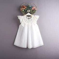 Kidora - 小童荷叶边蕾丝边连衣裙
