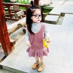 CUBS - Kids Corduroy Ruffle Hem Pinafores Dress