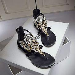 CITTA - Embellished Thong Sandals