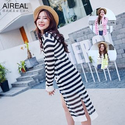 AIREAL - Striped Knit Jacket