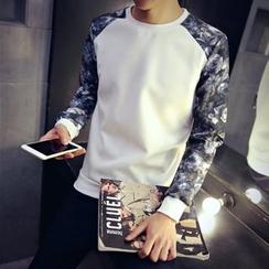 Alvicio - Floral Sleeve Pullover