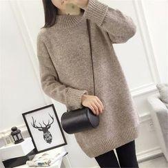 Emeline - Plain Sweater Dress