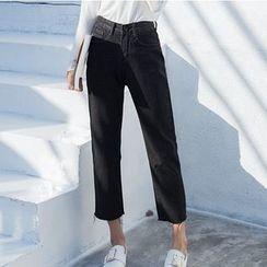 Denimot - Cropped Straight Leg Jeans