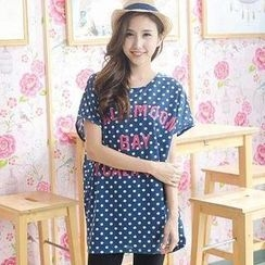 YoungBaby - Dotted Lettering T-Shirt