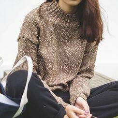 Polaris - Melange Mock Neck Sweater
