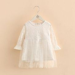 Seashells Kids - Kids Embellished Lace Dress