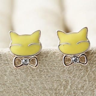 Cuteberry - Cat & Bow Studs