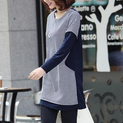 Stylementor - Houndtooth-Front Tunic