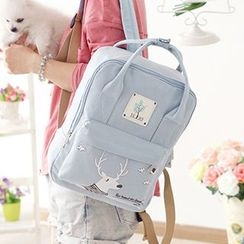 Canvas Love - Print Square Canvas Backpack