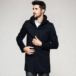 Quincy King - Hooded Woolen Long Coat