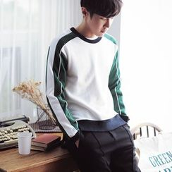 MEING - Contrast-Color Pullover
