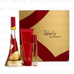 Rihanna - Rebelle Coffret: Eau De Parfum Spray 100ml/3.4oz + Body Butter 85g/3oz + Rollerball 6ml/0.2oz