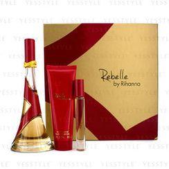 Rihanna - Rebelle Coffret: Eau De Parfum Spray 100ml/3.4oz + Body Butter 85g/3oz + Rollerball 6ml/0.2oz
