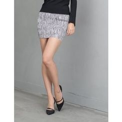 GUMZZI - Scallop-Hem Miniskirt