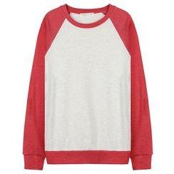 Seoul Homme - Color-Block Raglan-Sleeve T-Shirt