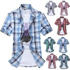 JVR - 短袖格子衬衫