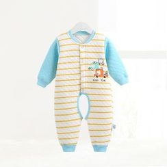ciciibear - Kids Stripe Panel Open Crotch One-piece