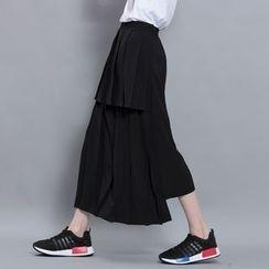 Sonne - Layered Pleated Midi Skirt