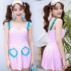 Jumei - 格子泳裙