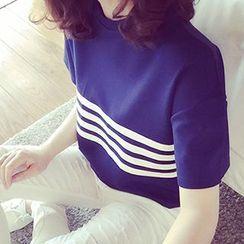 Glen Glam - 條紋短袖T恤