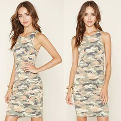 Chika - Camouflage Tank Dress