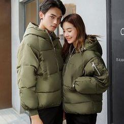 Rosehedge - Couple Matching Hooded Padded Coat