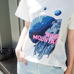 Ashlee - 印花短袖T恤