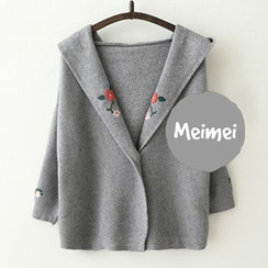 Meimei - Hooded Embroidered Knit Jacket