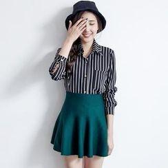 BAIMOMO - Patterned Chiffon Shirt