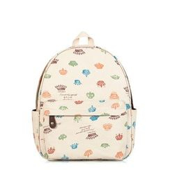 SUPER LOVER - Patterned Canvas Backpack