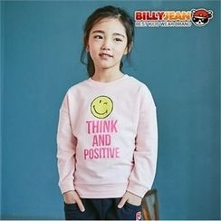 BILLY JEAN - Girls Smile Lettering Sweatshirt