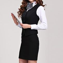 Caroe - Set: Suit Vest + Pencil Skirt
