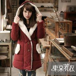 Tokyo Fashion - Fleece-Lined Hooded Puffer Coat
