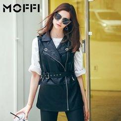 MOFFI - Faux Leather Vest